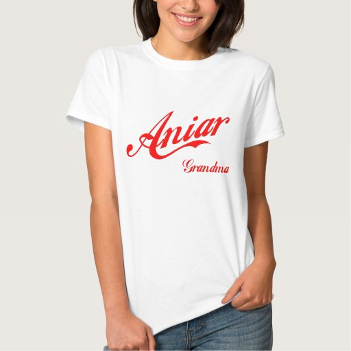 Camisa roja del remolino de la abuela de Aniar