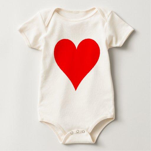 Camisa roja linda del corazón para los chicas