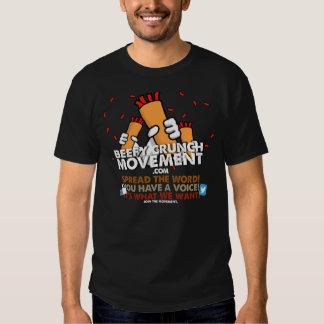 Camisa rolliza del movimiento del crujido