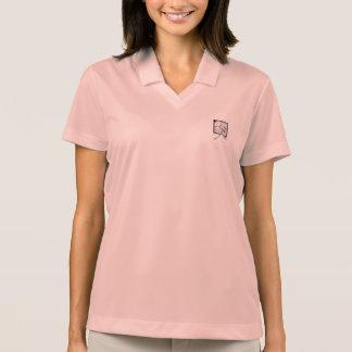 Camisa rosada de aluminio del logotipo del polo