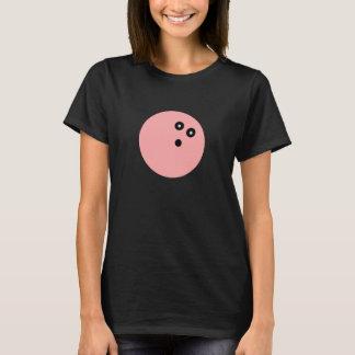 Camisa rosada de la bola de bolos