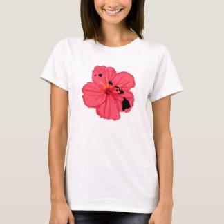 Camisa rosada de las islas del hibisco w Hawn
