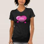 Camisa rosada de los corazones