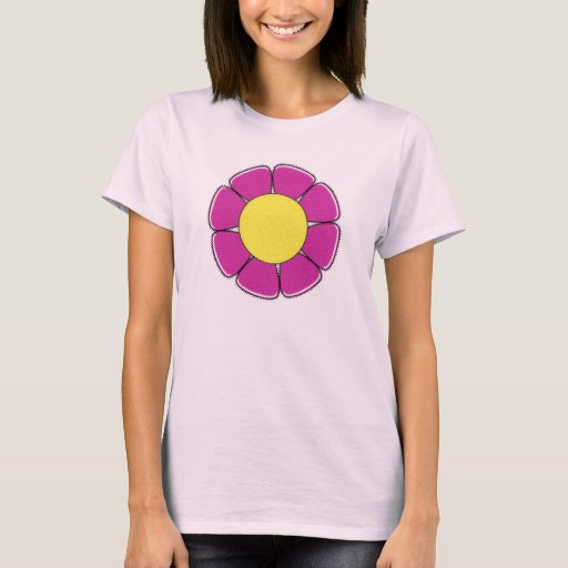 Camisa rosada de semitono de la flor