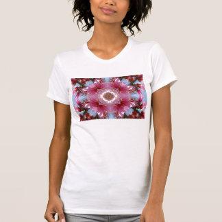 Camisa rosada del caleidoscopio de la flor de
