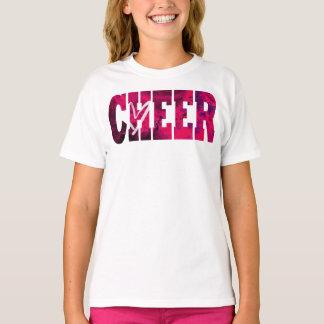 Camisa rosada del corazón de la alegría