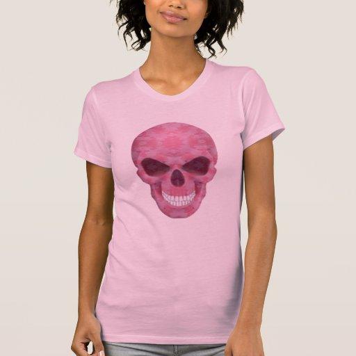 Camisa rosada del cráneo del camuflaje