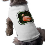 Camisa rosada del mascota del flamenco camisa de perrito