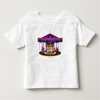 Camisa rosada del niño del carrusel