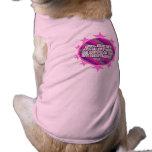 Camisa (rosada) del perro del 3:5 de los proverbio camiseta de perrito