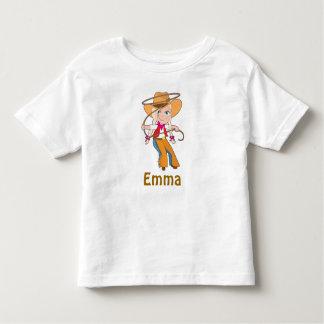 Camisa rubia de la vaquera con nombre