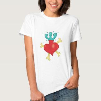 Camisa sagrada del corazón y de la bandera pirata