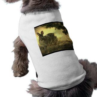 Camisa salvaje del mascota de los conejos ropa de perro