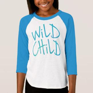 Camisa salvaje del raglán del niño de los chicas