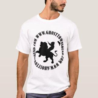Camisa sana w/website del pueblo fantasma B&W