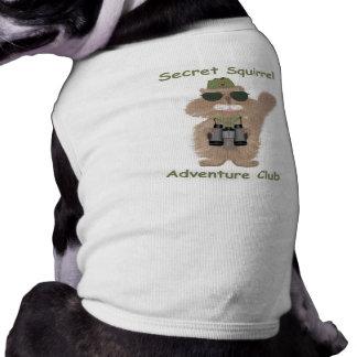 Camisa secreta del perro de la ardilla playera sin mangas para perro