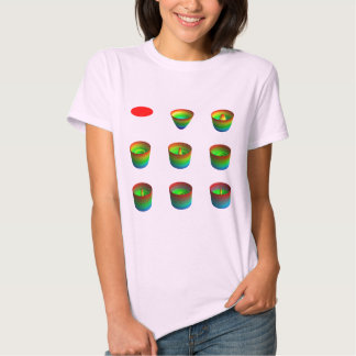 Camisa, señoras, invariants rotatorios remera