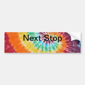 Camisa siguiente del teñido anudado de la parada etiqueta de parachoque
