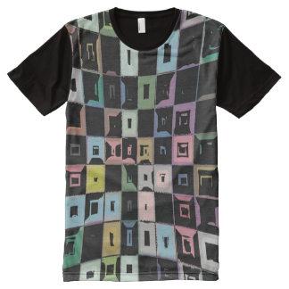 Camisa silenciada de los colores del arte