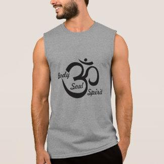 Camisa sin mangas de la yoga - cuerpo, alma y alco