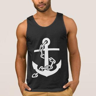 Camisa sin mangas del ancla del marinero