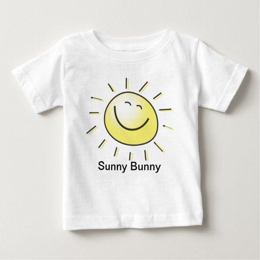 Camisa soleada del conejito del niño