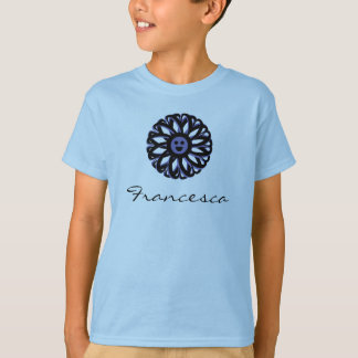 Camisa sonriente de la flor de Francisca
