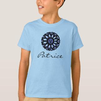Camisa sonriente de la flor de Patrice