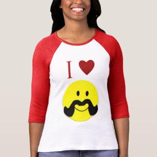 Camisa sonriente del bigote del manillar de la