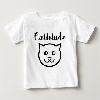 Camisa sonriente linda del gato de Cattitude
