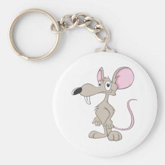 Camisa sonriente linda del ratón de la rata llavero redondo tipo pin