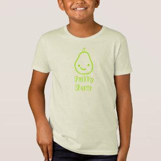 Camisa sonriente orgánica completamente cruda de