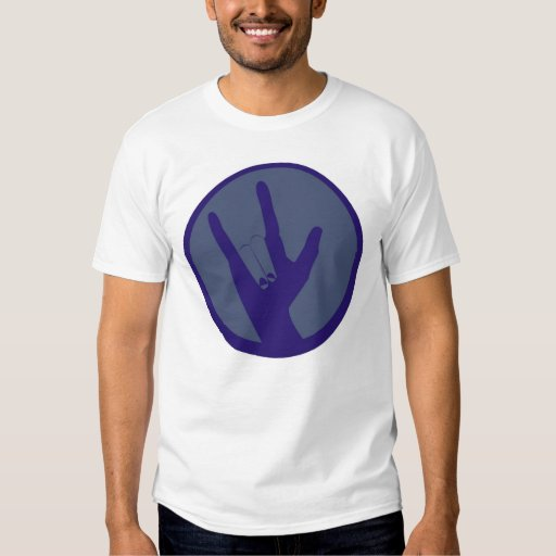 Camisa T-shirt Surdo- DEAF ASL I love you