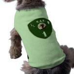 Camisa táctica del perro del equipo de la ardilla camisas de perritos