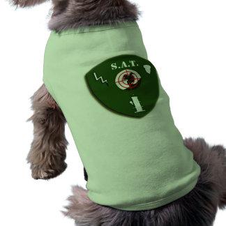Camisa táctica del perro del equipo de la ardilla playera sin mangas para perro