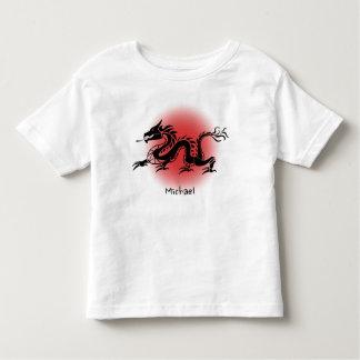 Camisa tradicional china del niño pequeño del