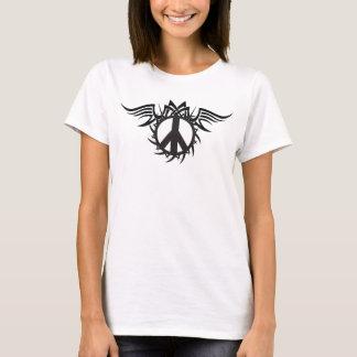 Camisa tribal del tatuaje del signo de la paz