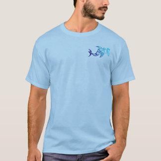 Camisa tribal para hombre del tiburón de
