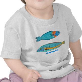 Camisa tropical de los pescados de Hawaii