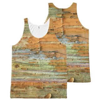 Camisa unisex del tanque de la corteza de árbol