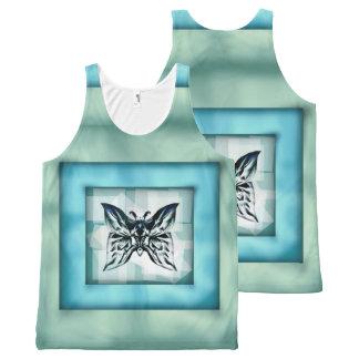 Camisa unisex del tanque del marco de la mariposa