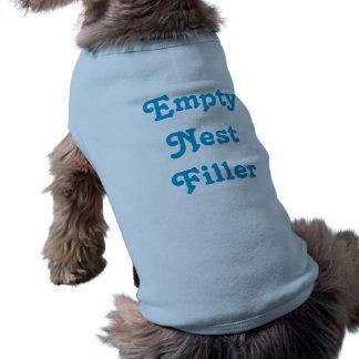 Camisa vacía del perro del llenador de la jerarquí playera sin mangas para perro