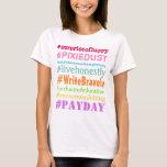 Camisa valiente de Hashtag del escritor