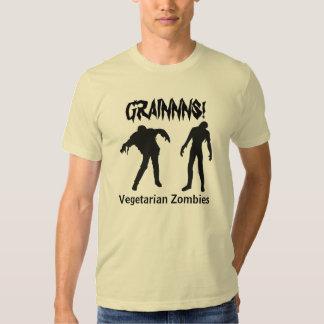 Camisa vegetariana de los zombis