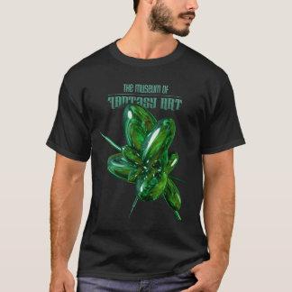 Camisa verde de la oscuridad del brillo