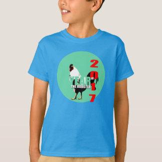 Camisa verde de los niños del círculo del año 2017