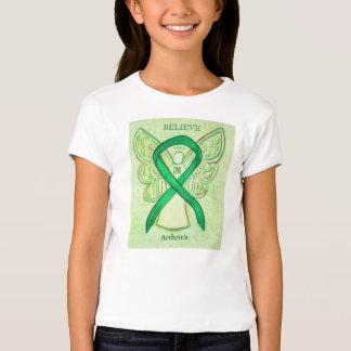 Camisa verde del ángel de la cinta de la