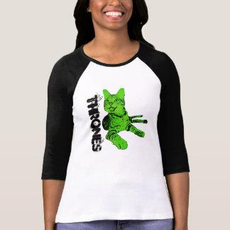Camisa verde del béisbol de los tronos (mujeres)