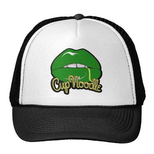 camisa verde del blanco de los labios gorras de camionero