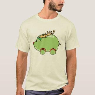 Camisa verde del cerdo del DÍA DE FIESTA (señoras)